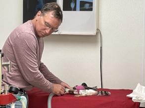 Dr. Scot in surgery at Fellow Mortals