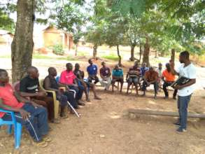 Community training about fall armyworm.