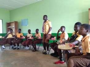 School children served packaged OFSP juice
