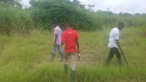 Selected students assessing project site