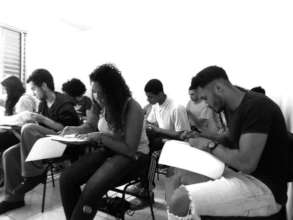 Youths in a classroom
