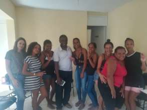 English pupils with our Teacher from Congo