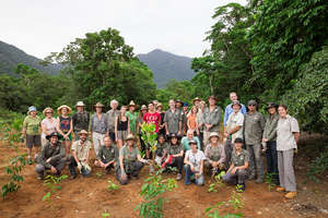 Volunteer wildlife corridor tree planters