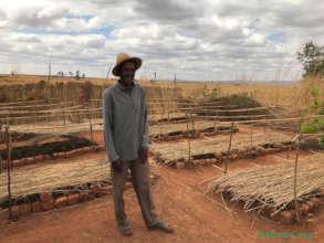 Master gardener Jean in his new tree nursery