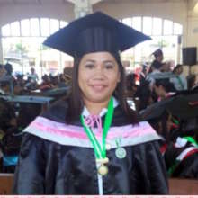 Nerissa at Graduation - BSM in Midwifery