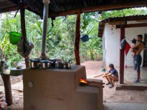 Newly built fuel-efficient stove