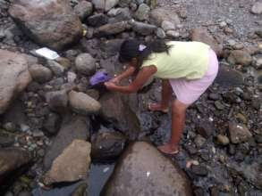 Dry stream, fish got stranded