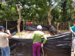 Establishing garden in the community of Orotina