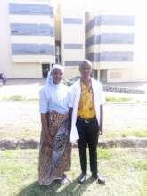 Dibeit with a classmate
