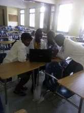 Dibeit studying with classmates