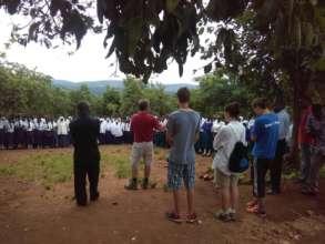 Fritz Speaking to Amahoro Secondary Students
