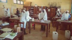 Form 4 Girls in Science Lab