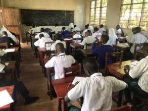 Students at Amahoro Secondary School
