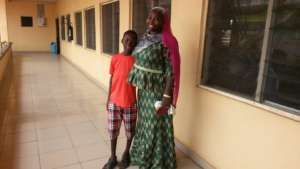 Sordiq and his Mother at a Recent Follow Up Visit