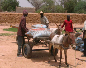 Transporting supplies for distribution