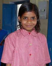 Homeless Girl at the Centre with New clothes