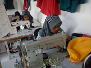 The sewing class room