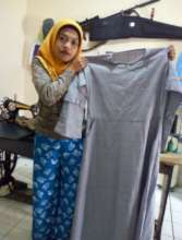 Bibah with her creation 2