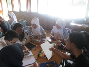Group discussion in English Class