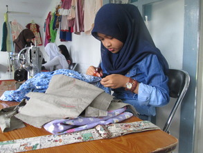 The student was making a skirt in Sewing 'Clothes'