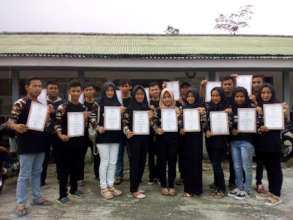 The students of YUM-VTC Cipanas