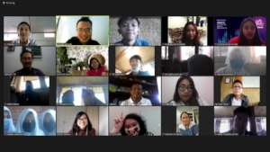 All the participants of Binus English online class