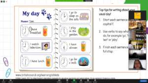 Learning about English daily activity conversation