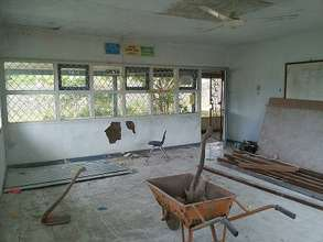 English Classroom during the renovation