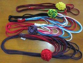 Necklaces from patchwork T-shirt in Sewing Class