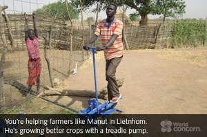 Manut is growing bigger, better crops.