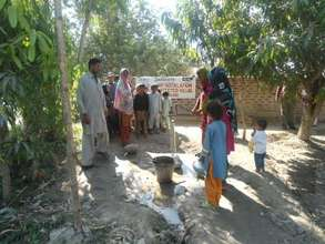Hand Pump installed in a Village