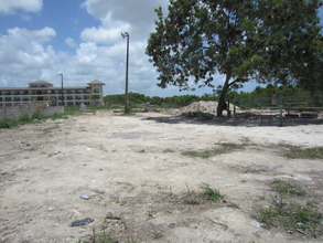 A view of the current site, from the front.