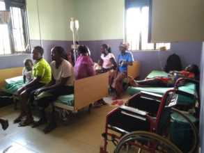 Patients receiving medication in Agonga