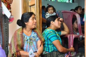 Mothers of sponsored students attend the workshop