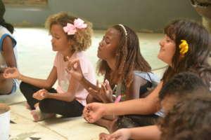 Children meditation session