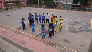 Teamwork at the sports workshop in Bogota