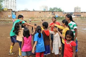 The main coach Hiralal motivates the girls